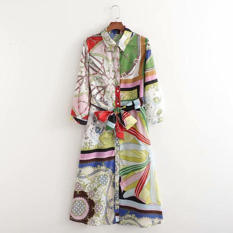 robe d'impression géométrique de mode NHAM321740's discount tags