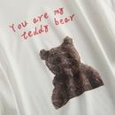 Casual cartoon bear print round neck shortsleeved Tshirt NHAM321758