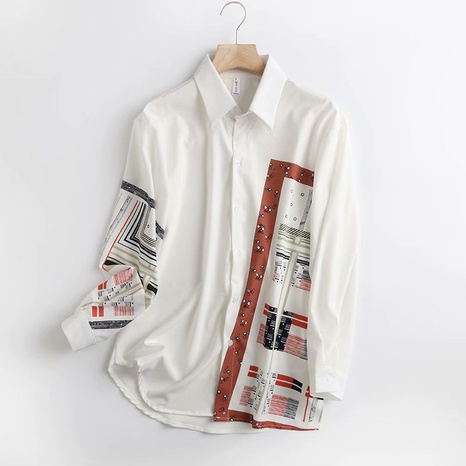 new fashion retro style printed shirt NHAM321762's discount tags