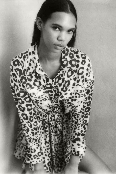 robe-chemise à imprimé animalier NHAM321775's discount tags