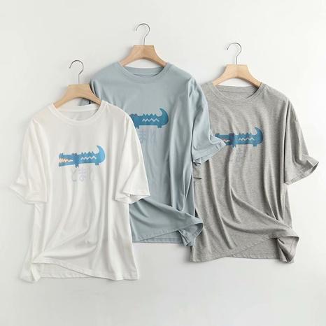 t-shirt à manches courtes imprimé crocodile NHAM321788's discount tags