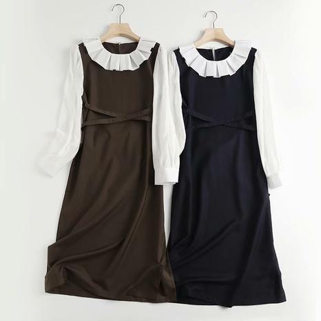 robe de couleur contrastée simple NHAM321798's discount tags