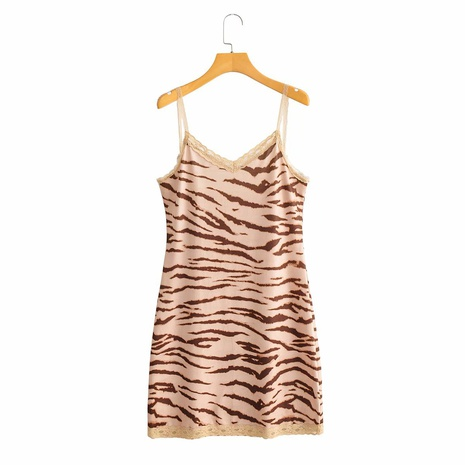 robe à bretelles en dentelle à motif tigre NHAM321806's discount tags