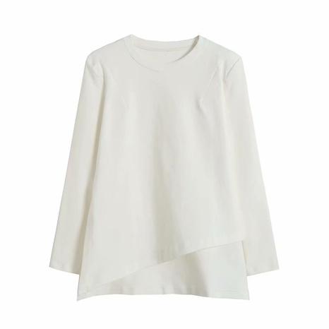 t-shirt asymétrique ample col rond blanc NHAM321819's discount tags