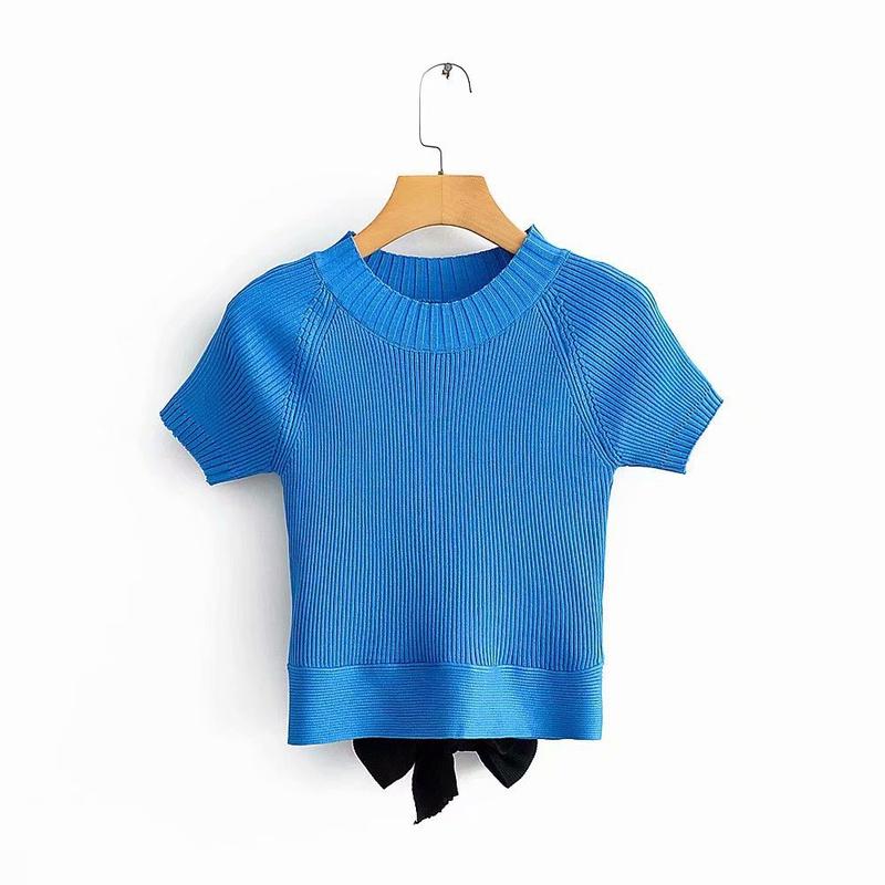 laceup slim knit shortsleeved Tshirt NHAM321822