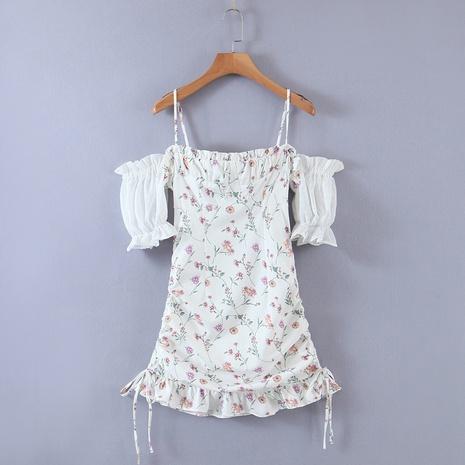 robe à bretelles en fil net d'impression NHAM321827's discount tags