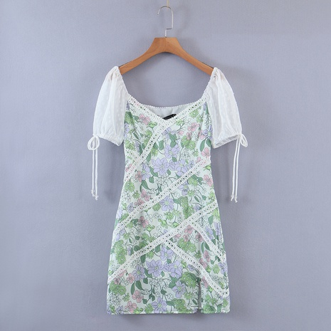 Vente en gros robe assortie de couleur en dentelle NHAM321840's discount tags