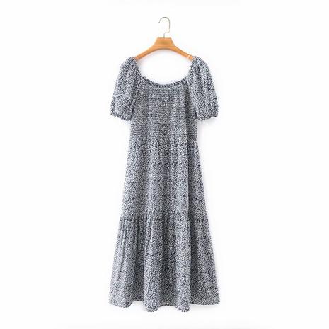 robe à manches courtes à bulles de couleur rétro NHAM321850's discount tags