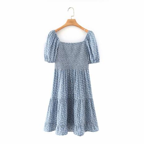 robe imprimée à manches bouffantes en gros NHAM321852's discount tags
