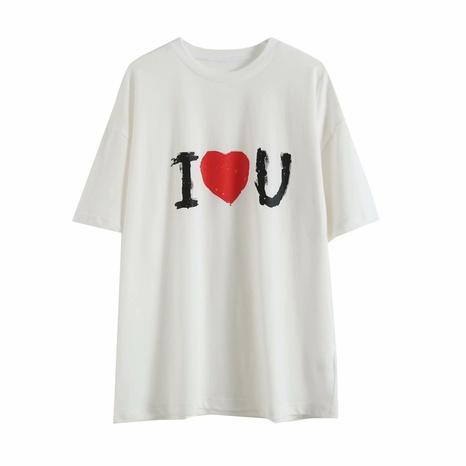 t-shirt ample à manches courtes à col rond NHAM321853's discount tags