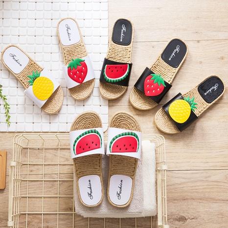 adorables sandales à fond plat coréen fruits NHPE321854's discount tags