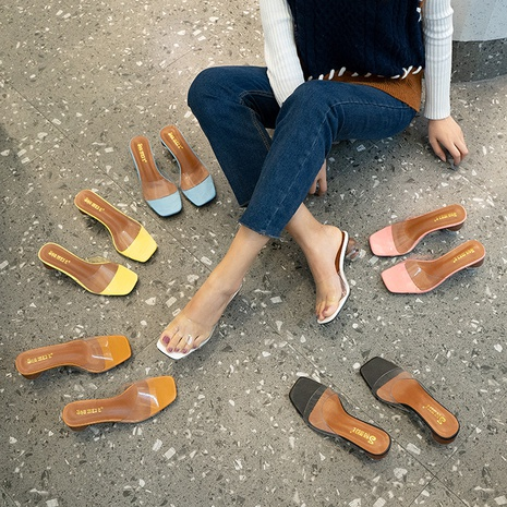fashion summer round heeled slippers NHHU321866's discount tags