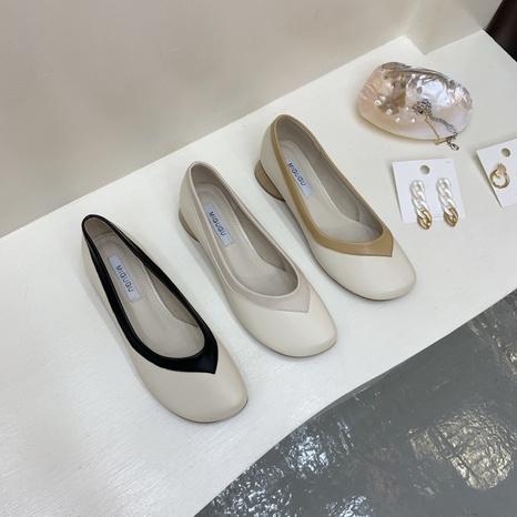 Nouvelles chaussures peu profondes de la mode coréenne NHHU321868's discount tags