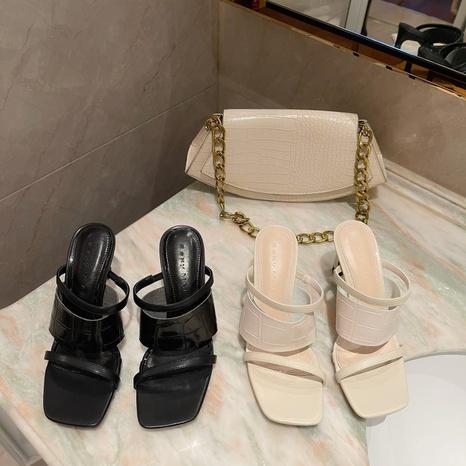 Korean sexy high-heeled sandals NHHU321872's discount tags
