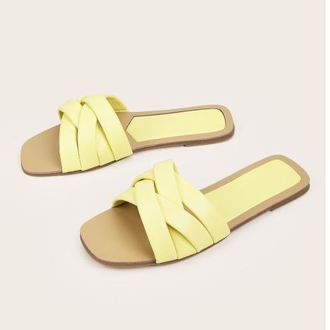 sandales plates à bouts ouverts à la mode NHHU321873's discount tags