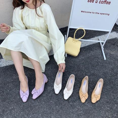 Korean new fashion bowknot shallow shoes NHHU321876's discount tags