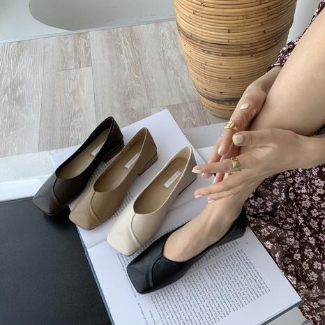 nouvelles chaussures en cuir de style britannique rétro NHHU321880's discount tags