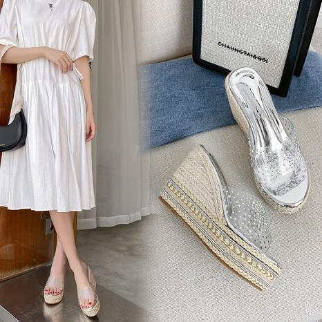 fashion summer rhinestone platform sandals NHHU321883's discount tags