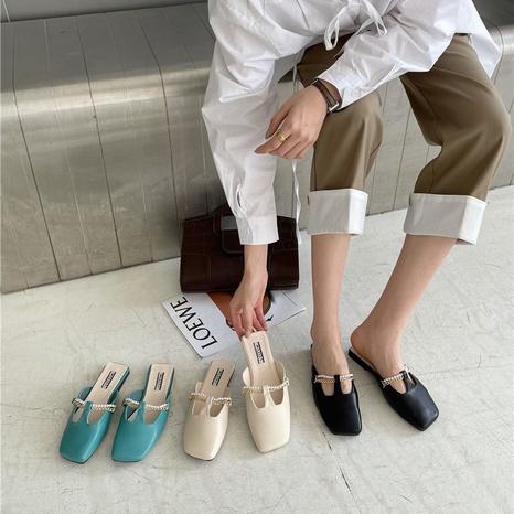 sandales plates à la mode NHHU321886's discount tags