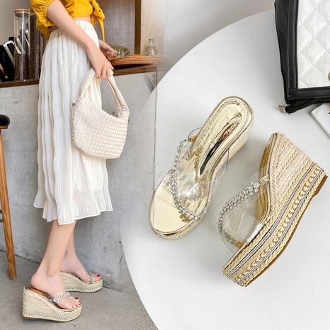 fashion rhinestones platform high-heeled sandals NHHU321888's discount tags