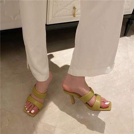 Korean summer high-heeled sandals NHHU321891's discount tags