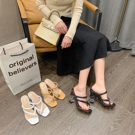 sandales à talons hauts en cristal de mode NHHU321893's discount tags