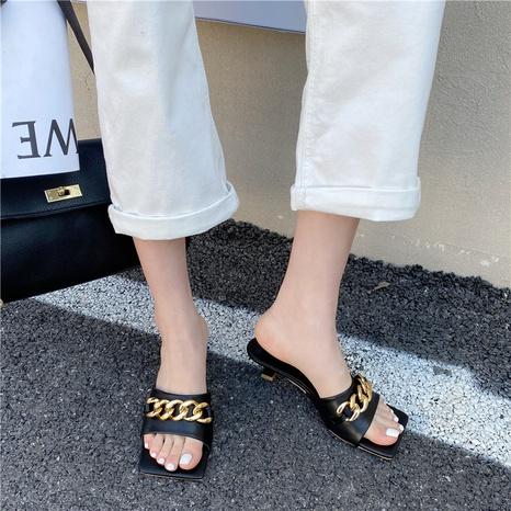 Nouvelles sandales à bout ouvert à talons bas NHHU321895's discount tags