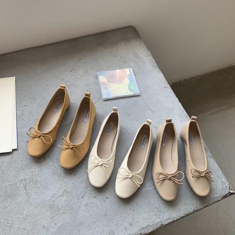 nouvelles chaussures rétro simples bowknot peu profondes NHHU321900's discount tags