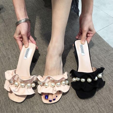 nouvelles pantoufles à volants à la mode coréenne NHHU321914's discount tags