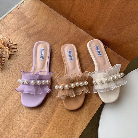 new sweet pearl korean slippers  NHHU321915's discount tags