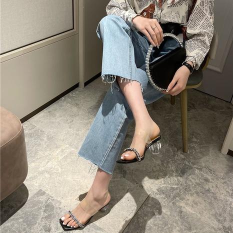 Nouvelles sandales à la mode en strass NHHU321918's discount tags