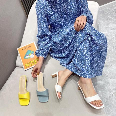 nouvelles sandales de couleur unie à la mode NHHU321922's discount tags