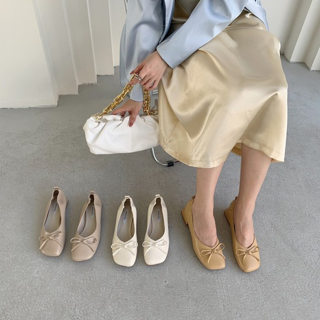 Korean new fashion square low-heeled single shoes NHHU321923's discount tags