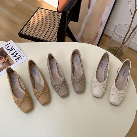Korean new fashion shallow bow shoes NHHU321929's discount tags