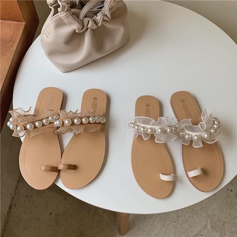 nouvelles sandales à bout coréen en dentelle à la mode NHHU321934's discount tags