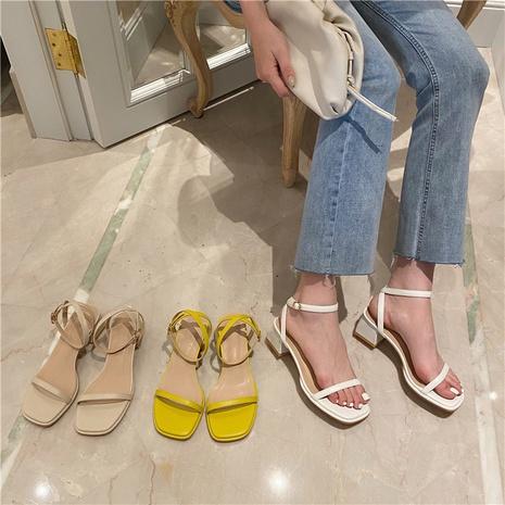 sandales épaisses à talon moyen NHHU321937's discount tags
