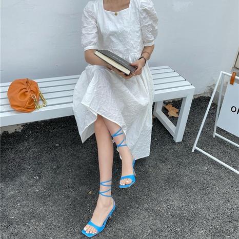 Korean new fashion method strappy sandals NHHU321940's discount tags