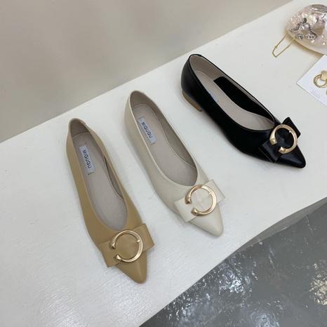 Chaussures à bouts pointus peu profonds de la mode coréenne NHHU321952's discount tags