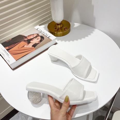 sandales d'été à talon rond et à bout carré NHHU321955's discount tags