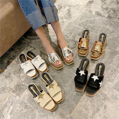 sandales à paillettes à semelles épaisses NHHU321972's discount tags