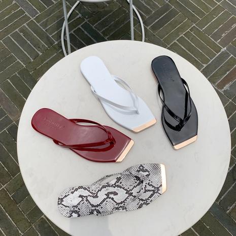 Sandales plates d'été coréennes NHHU321974's discount tags