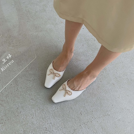 chaussures plates Bow Pearl Muller NHHU321976's discount tags