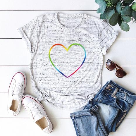 t-shirt à manches courtes en coton arc-en-ciel NHSN321991's discount tags