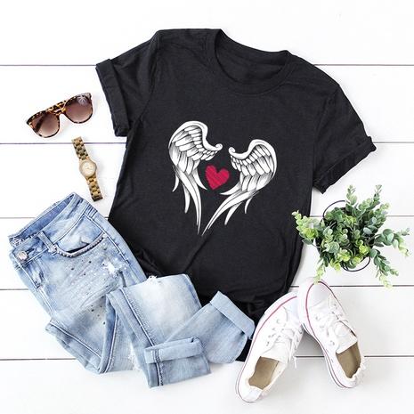 t-shirt à manches courtes en coton NHSN322002's discount tags