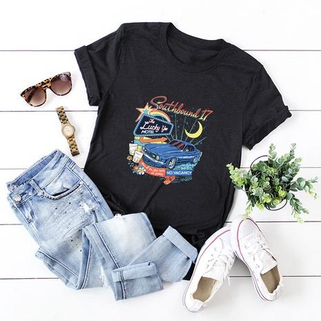 t-shirt à manches courtes en coton imprimé NHSN322005's discount tags