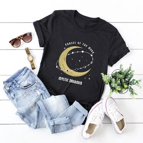 t-shirt manches courtes en coton étoilé lune NHSN322011's discount tags