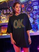 new fashion leopard print letter loose casual Tshirt NHSN322048