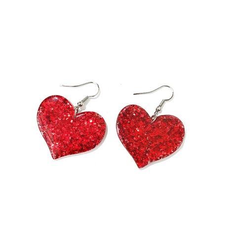 Korea New Acrylic Love Earrings  NHQC322112's discount tags