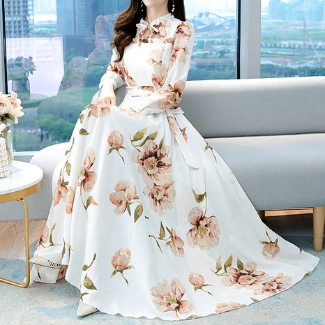 new fashion large print dress NHZN322613's discount tags