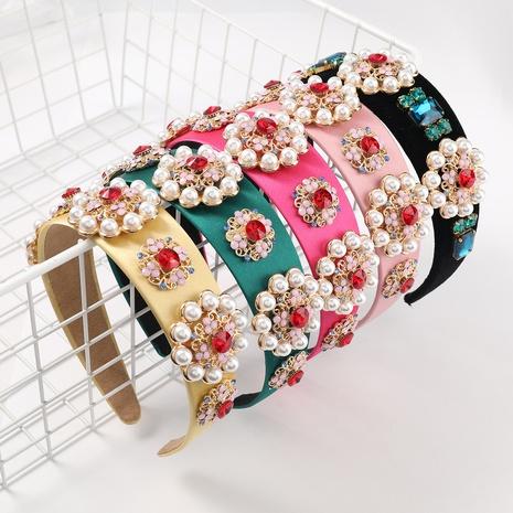 bandeau de fleur de perle de diamant de couleur unie NHJE322125's discount tags